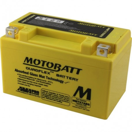AKUMULATOR MOTOCYKLOWY 12V 7AH/105A L+ WYM 151X87X95/95 QUADFLEX 2 TERMINALE/BIEGUNY MOTOBATT MBTX7ABS