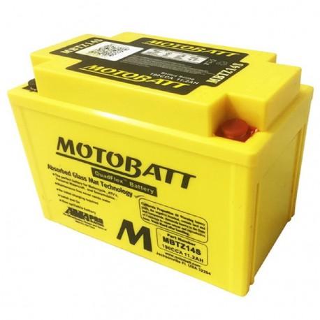 AKUMULATOR MOTOCYKLOWY 12V 11.2AH/190A P+ WYM 151X87X110/110 QUADFLEX 4 TERMINALE/BIEGUNY MOTOBATT MBTZ14S