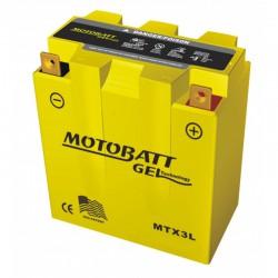 AKUMULATOR MOTOCYKLOWY 12V 3AH/40A P+ WYM 97X56X109 GEL 2 TERMINALE/BIEGUNY MOTOBATT MTX3L