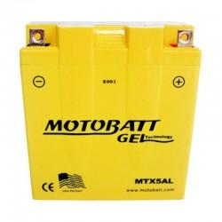 AKUMULATOR MOTOCYKLOWY 12V 5AH/85A P+ WYM 120X59X131 GEL 2 TERMINALE/BIEGUNY MOTOBATT MTX5AL