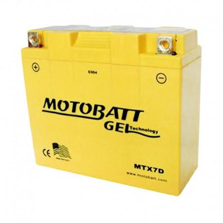 AKUMULATOR MOTOCYKLOWY 12V 7AH/110A L+ WYM 149X60X129 GEL 2 TERMINALE/BIEGUNY MOTOBATT MTX7D