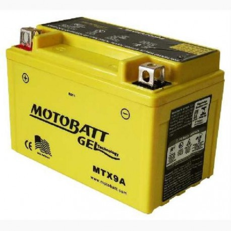 AKUMULATOR MOTOCYKLOWY 12V 9AH/140A L+ WYM 151X88X105 GEL 2 TERMINALE/BIEGUNY MOTOBATT MTX9A