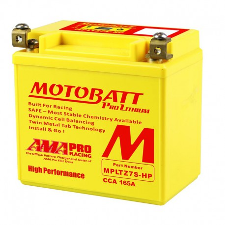 AKUMULATOR MOTOCYKLOWY 12V 4AH 280A P+ 141X70X107 107 LITHIUM LIFEPO4 LITOWO JONOWY CBC+PCB MOTOBATT MPLTZ7S-HP