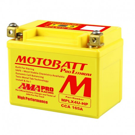 AKUMULATOR MOTOCYKLOWY 12V 2.2AH/165A P+ WYM 114X70X87/87 LITHIUM LIFEPO4 LITOWO-JONOWY CBC MOTOBATT MPLTX4U-P