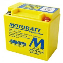 AKUMULATOR MOTOCYKLOWY 12V 3AH 230A P+ 141X70X107/107 LITHIUM LIFEPO4 LITOWO JONOWY CBC MOTOBATT MPLTZ7S-P