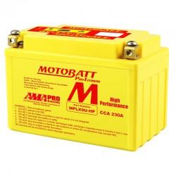 AKUMULATOR MOTOCYKLOWY 12V 3AH 230A P+ 151X87X105 LITHIUM LIFEPO4 LITOWO JONOWY CBC + PCB MOTOBATT MPLX9U-HP