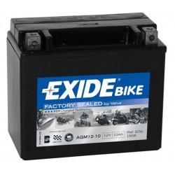 AKUMULATOR 10AH 12V 150A AGM READY LEWY + EXIDE AGM12-10