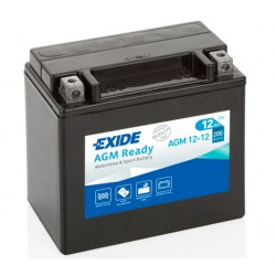 AKUMULATOR 12AH 12V 200A AGM READY LEWY + EXIDE AGM12-12