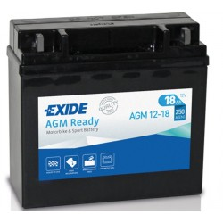 AKUMULATOR 18AH 12V 250A AGM READY PRAWY + EXIDE AGM12-18