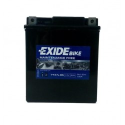 AKUMULATOR 6AH 12V 90A MOTOCYKLOWY + ELEKTROLIT PRAWY+ EXIDE YTX7L-BS
