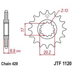 ZĘBATKA NAPĘDOWA PRZÓD MOTOCYKLOWA STALOWA JTF1120.15