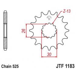 ZĘBATKA NAPĘDOWA PRZÓD MOTOCYKLOWA STALOWA JTF1183.18