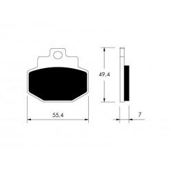 KLOCKI HAMULCOWE MOTOCYKL BENELLI ADIVA GIL VICMA P10756