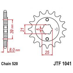 ZĘBATKA NAPĘDOWA PRZÓD MOTOCYKLOWA STALOWA JTF1041.15