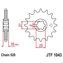 ZĘBATKA NAPĘDOWA PRZÓD MOTOCYKLOWA STALOWA JTF1043.14