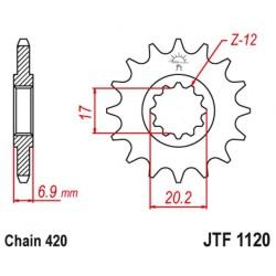 ZĘBATKA NAPĘDOWA PRZÓD MOTOCYKLOWA STALOWA JTF1120.14