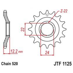 ZĘBATKA NAPĘDOWA PRZÓD MOTOCYKLOWA STALOWA JTF1125.17