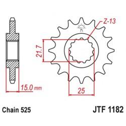 ZĘBATKA NAPĘDOWA PRZÓD MOTOCYKLOWA STALOWA JTF1182.14