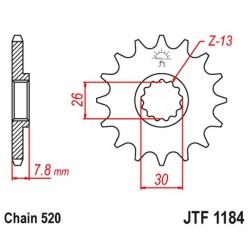 ZĘBATKA NAPĘDOWA PRZÓD MOTOCYKLOWA STALOWA JTF1184.18