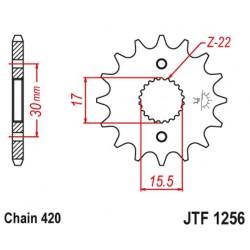 ZĘBATKA NAPĘDOWA PRZÓD MOTOCYKLOWA STALOWA JTF1256.13