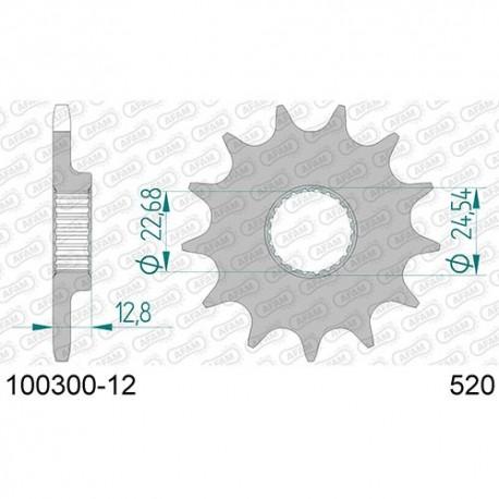 ZĘBATKA NAPĘDOWA PRZÓD MOTOCYKLOWA STALOWA AFAM 100300-12