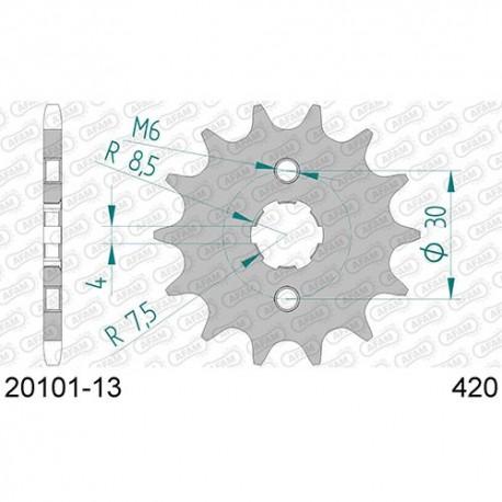 ZĘBATKA NAPĘDOWA PRZÓD MOTOCYKLOWA STALOWA AFAM 20101-13