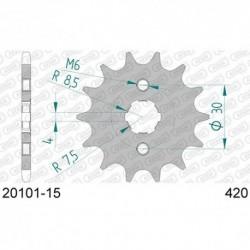 ZĘBATKA NAPĘDOWA PRZÓD MOTOCYKLOWA STALOWA AFAM 20101-15