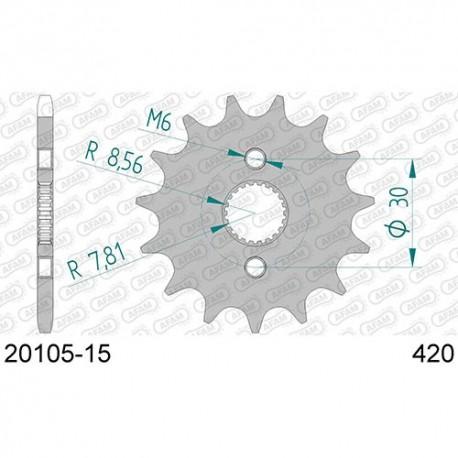 ZĘBATKA NAPĘDOWA PRZÓD MOTOCYKLOWA STALOWA AFAM 20105-15