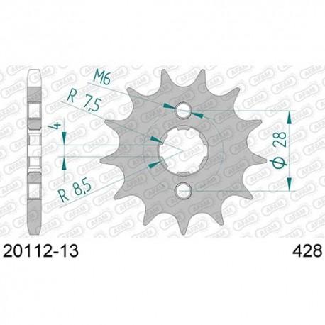 ZĘBATKA NAPĘDOWA PRZÓD MOTOCYKLOWA STALOWA AFAM 20112-13