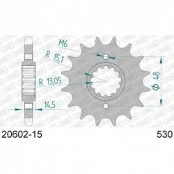 ZĘBATKA NAPĘDOWA PRZÓD MOTOCYKLOWA STALOWA AFAM 20602-15