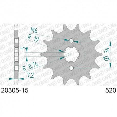 ZĘBATKA NAPĘDOWA PRZÓD MOTOCYKLOWA STALOWA AFAM 20305-15