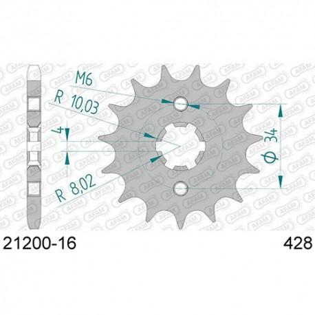 ZĘBATKA NAPĘDOWA PRZÓD MOTOCYKLOWA STALOWA AFAM 21200-16