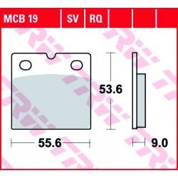 KLOCKI HAMULCOWE MOTOCYKL ORGANIC BMW R 1000 RT 81-84 BMW K75 750 84 TRW MCB19