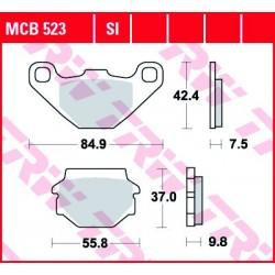 KLOCKI HAMULCOWE MOTOCYKL ORGANIC APRILIA 650 PEGASO 97-00 SUZUKI GN 125 94-99 TRW MCB523