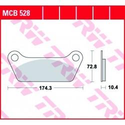 KLOCKI HAMULCOWE MOTOCYKL ORGANIC HARLEY-DAVIDSON FLT 1340 80 CLASSIC 81 TRW MCB528