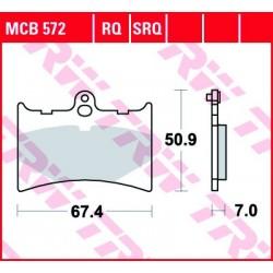 KLOCKI HAMULCOWE MOTOCYKL ORGANIC GILERA CX 125 91 TRW MCB572