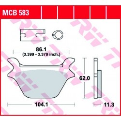 KLOCKI HAMULCOWE MOTOCYKL ORGANIC HARLEY-DAVIDSON FXDWG 1340 DYNA WIDE GLIDE 93 TRW MCB583