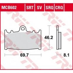 KLOCKI HAMULCOWE MOTOCYKL HYPER-CARBON SUZUKI GSX-R 600 01-03 TRW MCB602CRQ