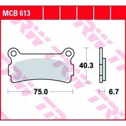 KLOCKI HAMULCOWE MOTOCYKL ORGANIC BETA 240 ALP 91- TRW MCB613