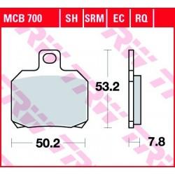 KLOCKI HAMULCOWE MOTOCYKL ORGANIC DUCATI 1200 MULTISTRADA 13-14 APRILIA ETV 1000 CAPONORD 01-03 TRW MCB700