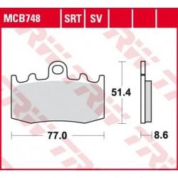 KLOCKI HAMULCOWE MOTOCYKL ORGANIC BMW R 1200 GS ADVENTURE 06-12 BMW R 1150 GS ADVENTURE 0902-03 TRW MCB748