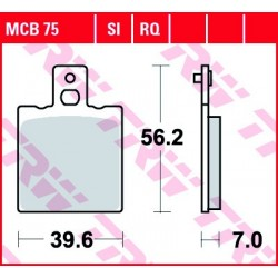 KLOCKI HAMULCOWE MOTOCYKL ORGANIC DUCATI 600 MONSTER 94-99 APRILIA 125 TUONO 03-04 TRW MCB75