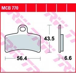 KLOCKI HAMULCOWE MOTOCYKL ORGANIC GAS GAS TXT 125 00-03 GAS GAS TXT 125 00-03 TRW MCB770