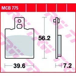 KLOCKI HAMULCOWE MOTOCYKL ORGANIC APRILIA RS 125 EXTREMA, REPLICA 95-01 TRW MCB775