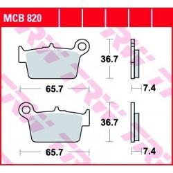 KLOCKI HAMULCOWE MOTOCYKL ORGANIC BETA RR 50 SUPERMOTARD 08- TRW MCB820