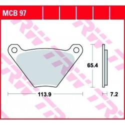KLOCKI HAMULCOWE MOTOCYKL ORGANIC HARLEY-DAVIDSON FLH 1200 ELECTRA GLIDE 77-78 TRW MCB97