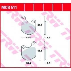 KLOCKI HAMULCOWE MOTOCYKL ORGANIC HARLEY-DAV FXSB 1340 LOW RIDER 83 HARLEY-DAV XLS 1000 SPORTSTER TRW MCB511
