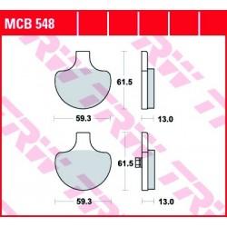 KLOCKI HAMULCOWE MOTOCYKL ORGANIC HARLEY-DAV FXRT 1340 SPORT GLIDE 85-86 ELECTRA GLIDE 85-86 TRW MCB548