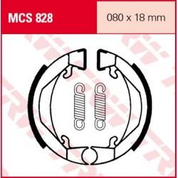 SZCZĘKI HAMULCOWE MOTOCYKL PEUGEOT 50 103 PRO, SP3 TRW MCS828