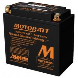 AKUMULATOR MOTOCYKLOWY 12V 16.5AH/240A P+ WYM 151X87X145/145 QUADFLEX 4 TERMINALE/BIEGUNY MOTOBATT MBYZ16HD